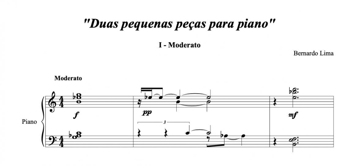 2 pequenas peças para piano